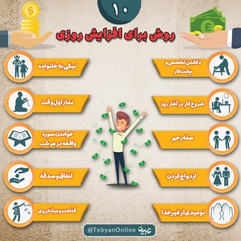 روشهای مختلف برای افزایش روزی