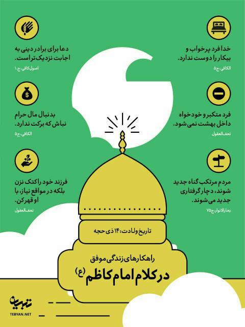راهکارهای زندگی موفق از امام موسی کاظم علیه السلام